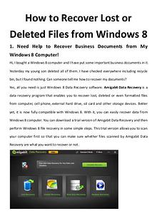 multimedia software tipsBest Fast AVI Joiner to Join Multiple AVI Fil How to Recover Lost or Deleted Files from Windows 8