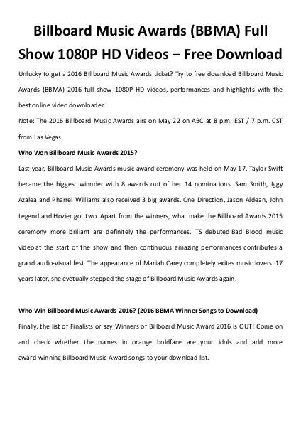 Multimedia Software Billboard music awards