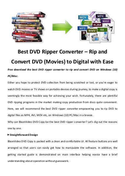 Multimedia Software Dvd ripper converter
