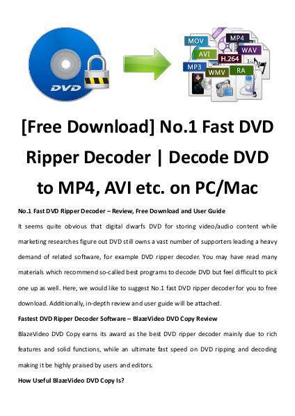 Multimedia Software Dvd ripper decoder