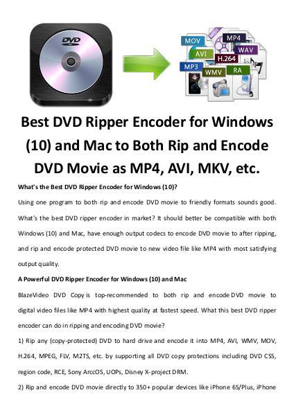 Multimedia Software Dvd ripper encoder