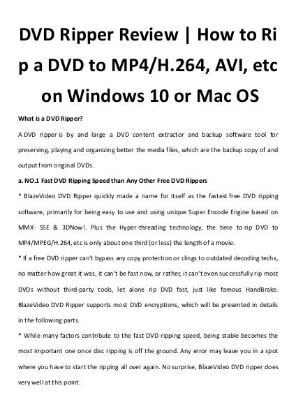 Multimedia Software Dvd ripper
