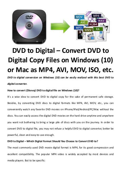 Multimedia Software Dvd to digital