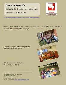 Revista Cursos de Extensión Escuela de Ciencias del Lenguaje-Universidad del Valle