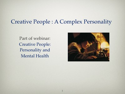 Creative People: A Complex Personality ..
