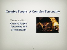 Creative People: A Complex Personality