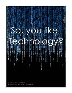 So You Like Technology? November. 2012