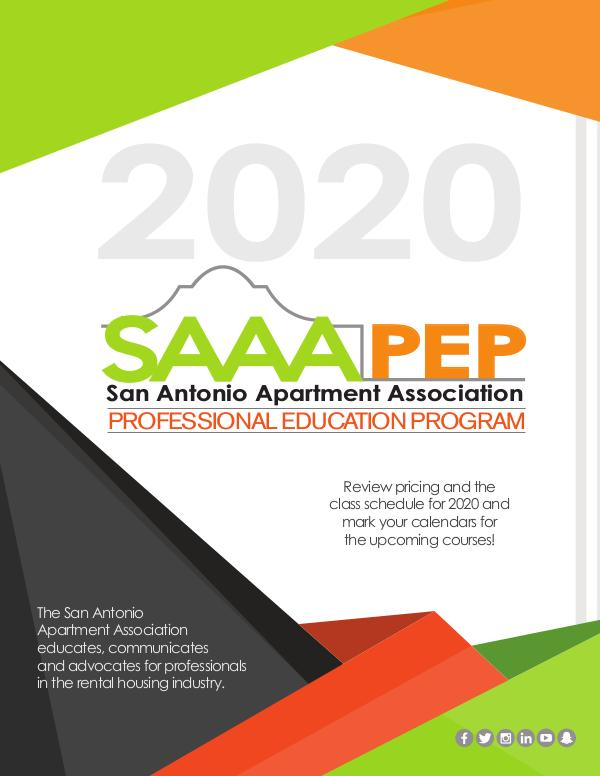 2020 Professional Education Program PEP_Brochure_2020_electronic