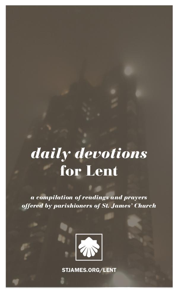 Daily Devotions Lent 2018