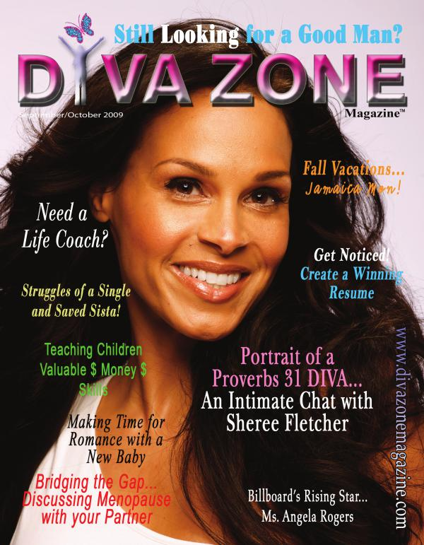 Diva Zone ™ Magazine DIVA SWAGGER ISSUE - Sheree Fletcher Cover - Septe