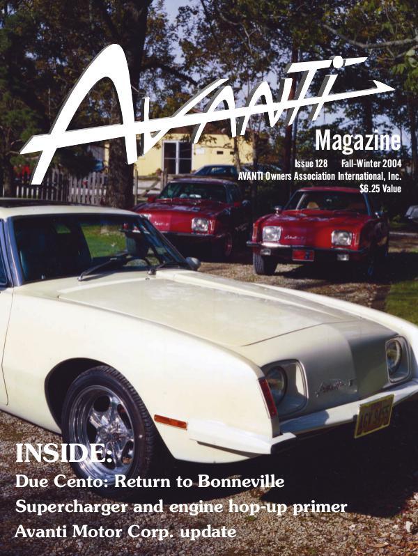 Avanti Magazine Fall/Winter 2004 #128