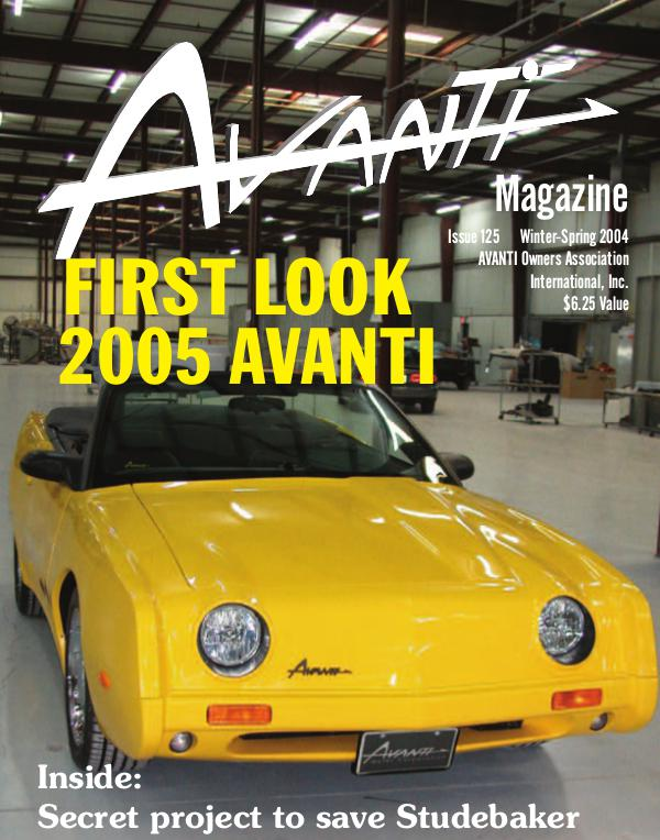 Avanti Magazine Winter/Spring 2004 #125