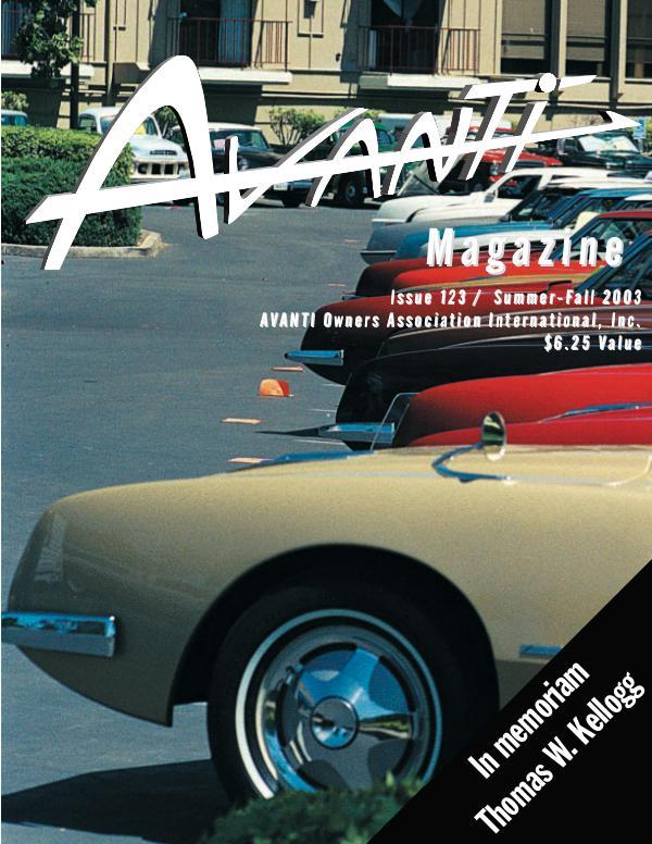 Avanti Magazine Summer/Fall 2003 #123