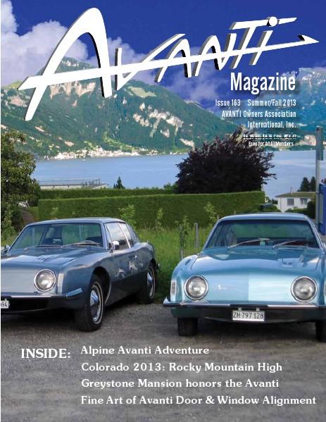 Avanti Magazine Summer/Fall 2013 #163