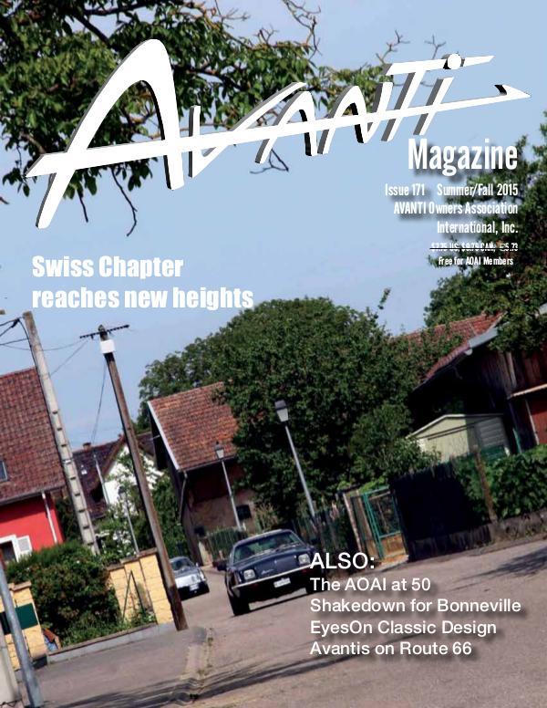 Avanti Magazine Summer/ Fall 2015 #171