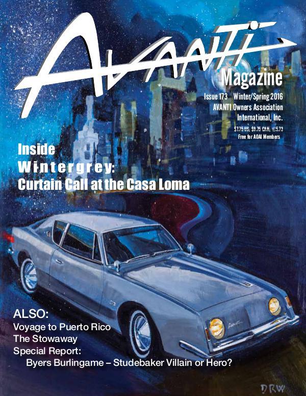 Avanti Magazine Winter/Spring 2016 #173