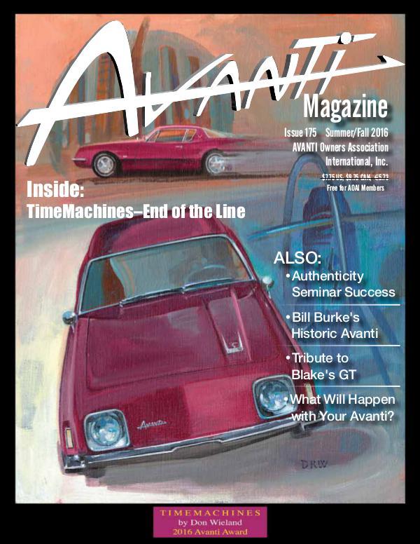 Avanti Magazine Summer/Fall 2016 #175