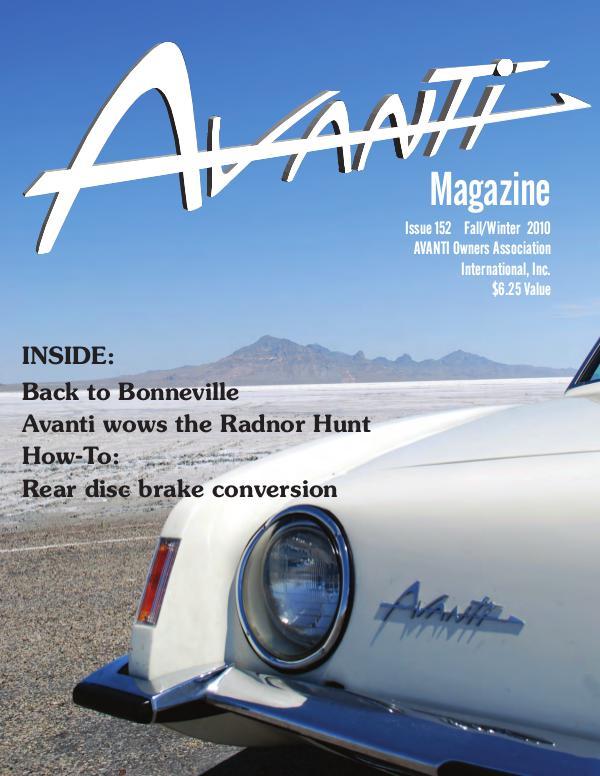 Avanti Magazine Fall/Winter 2010 #152