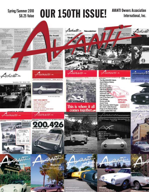 Avanti Magazine Spring/Summer 2010 #150