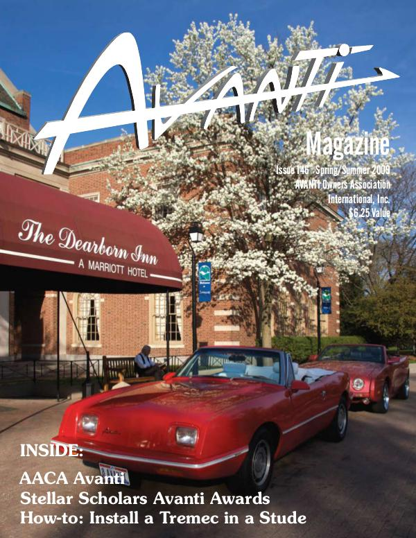 Avanti Magazine Spring/Summer 2009 #146