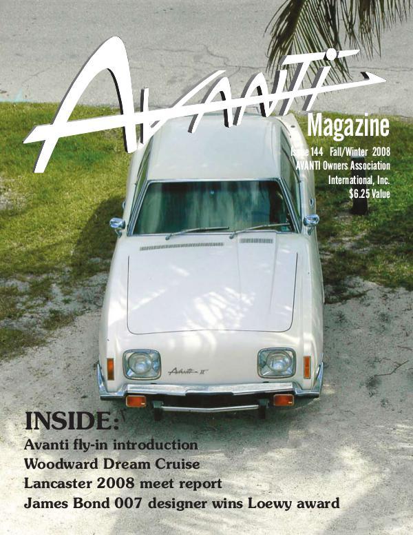 Avanti Magazine Fall/Winter 2008 #144