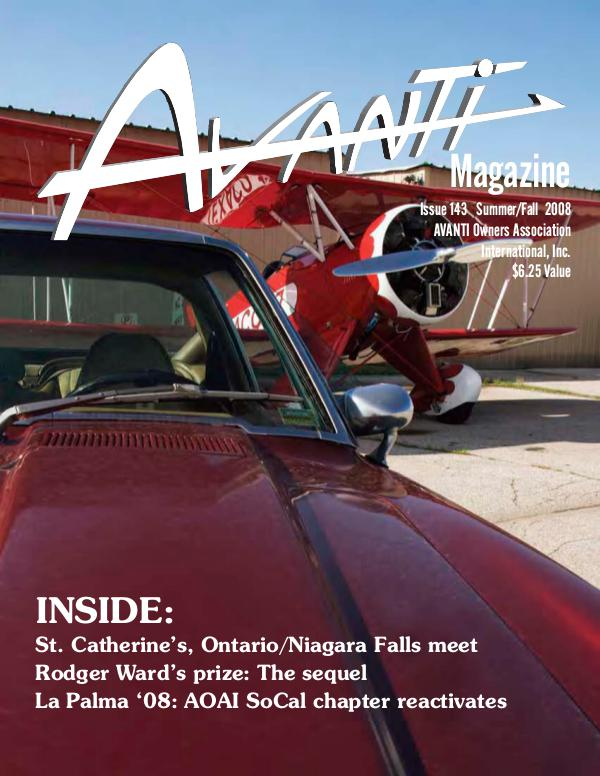 Avanti Magazine Summer/Fall 2008 #143