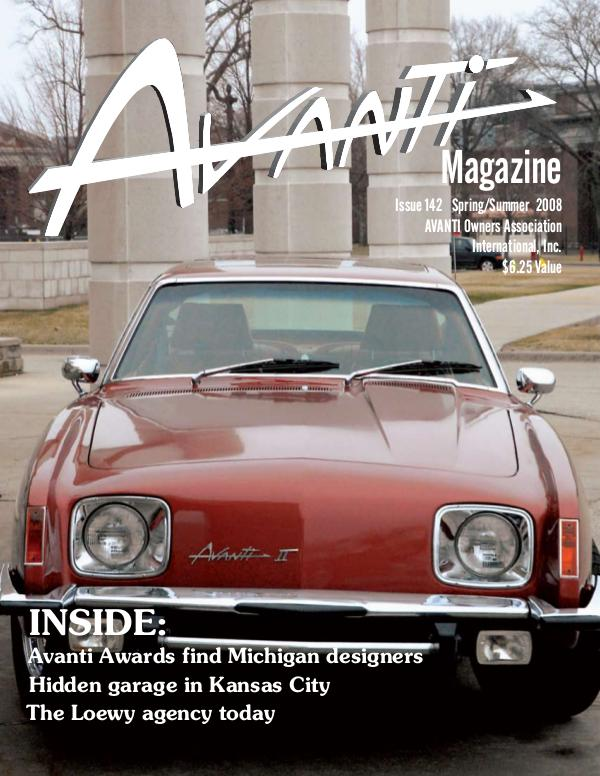 Avanti Magazine Spring/Summer 2008  #142