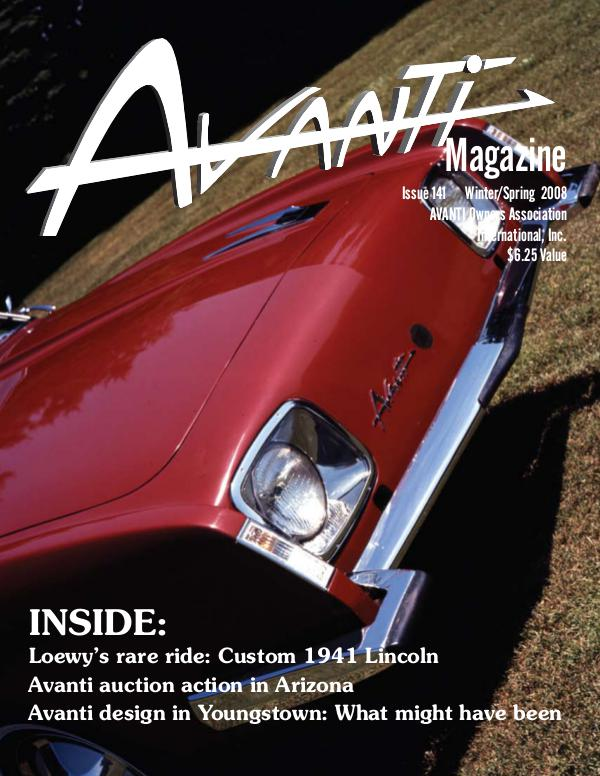 Avanti Magazine Winter/Spring 2008 #141