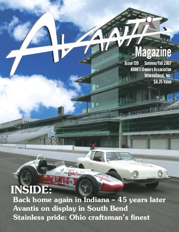 Avanti Magazine Summer/Fall 2007  #139