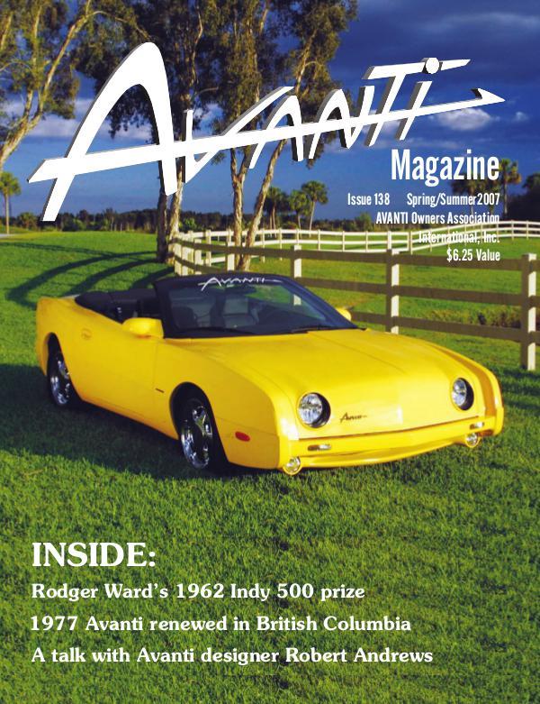 Avanti Magazine Spring/Summer #138