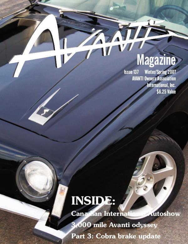 Avanti Magazine Winter/Spring 2007  #137