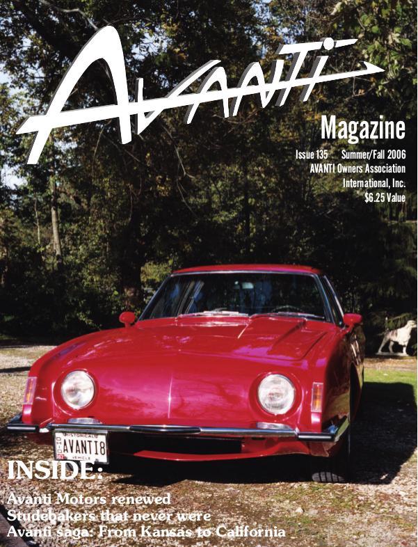Avanti Magazine Summer/Fall 2006  #135