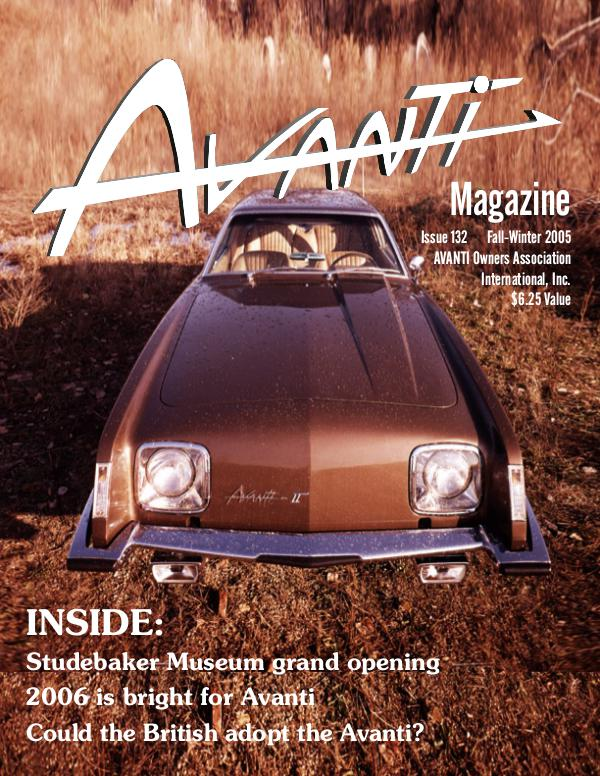 Avanti Magazine Fall/Winter 2005  #132