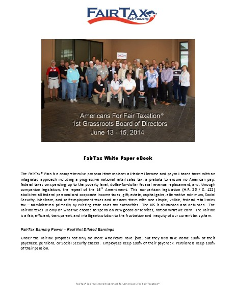 Georgia for FairTax | Free eBook Sep. 2014