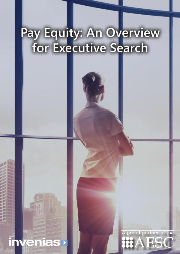 Pay Equity: An Overview for Executive Search Pay Equity