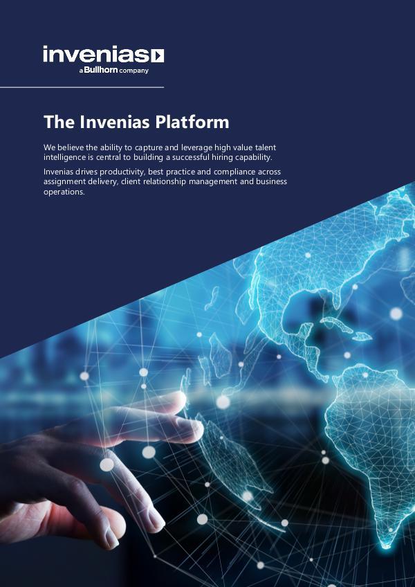 Invenias Platform Datasheet (Firms) Invenias Platform Datasheet (Firms - UK)