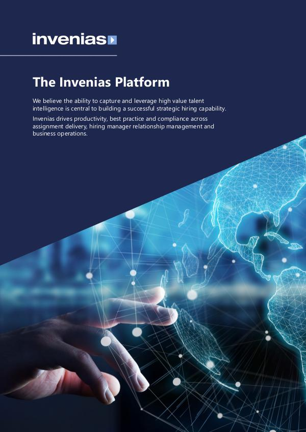 Invenias Platform Datasheet (In-House - UK) Invenias Platform Datasheet (In House - UK)