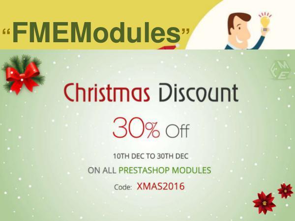 Christmas Sales Offer 2016 to get PrestaShop Modules FMEModules Christmas Sales Offer 2016