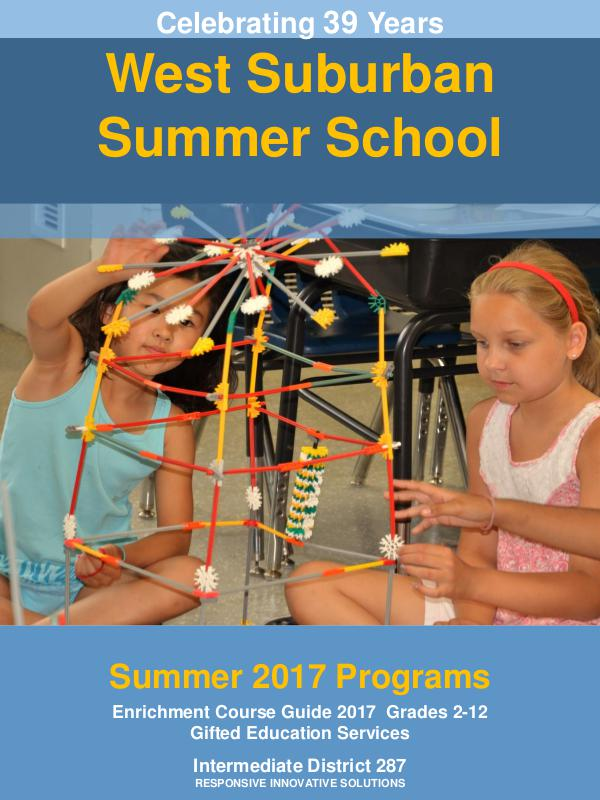 West Suburban Summer School (Summer 2017)