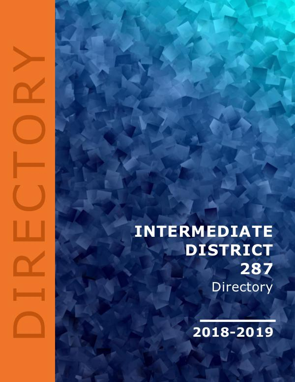 Intermediate District 287 Directory 2018-2019 1