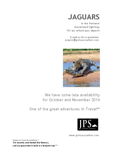 JPS Luxury Safaris JPS Luxury safaris Panatal Safari