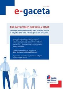 E-Gaceta Diciembre 2018 - Looking inside the Company