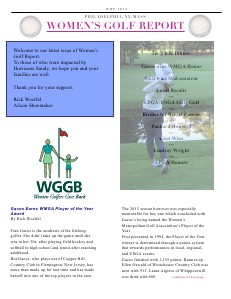 Women's Golf Report Nov. 2012