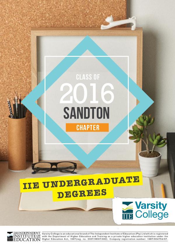 Varsity College Sandton Yearbook 2016 Sandton Yearbook_2016cov