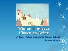 Winter in Greece - L'hiver en Grece