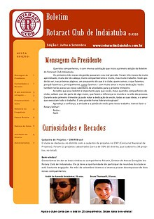 BOLETIM - ROTARACT CLUB DE INDAIATUBA