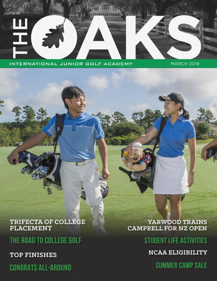IJGA Newsletter: The Oaks March 2019