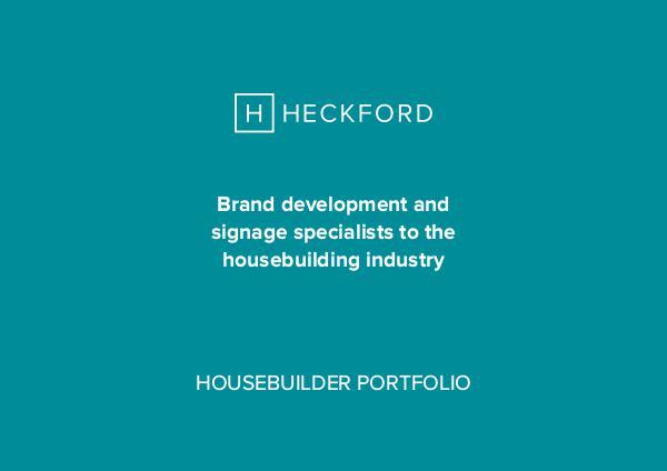 Heckford Brochure for Housebuilders Heckford - Housebuilder Presenter