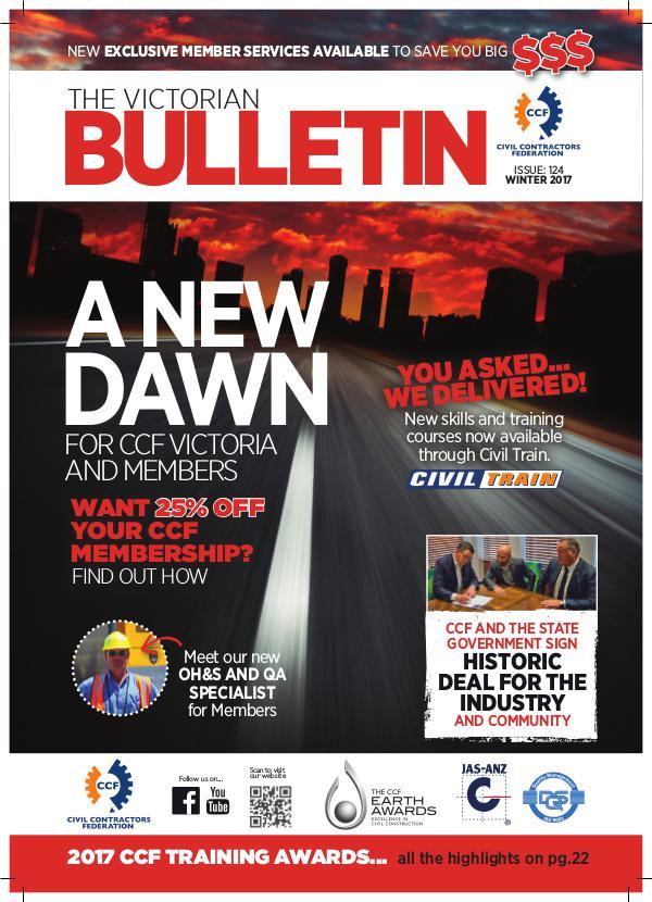 CCF Victorian Bulletin Winter Edition 2017