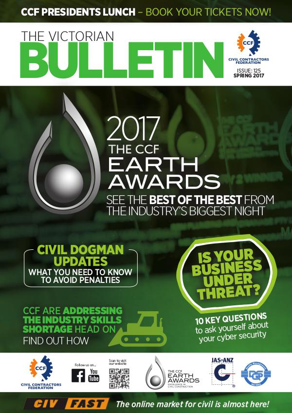 CCF Victorian Bulletin Spring Edition 2017